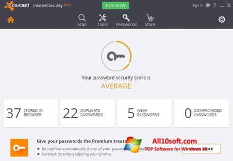 Screenshot Avast Internet Security Windows 10