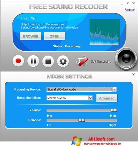 Screenshot Free Sound Recorder Windows 10
