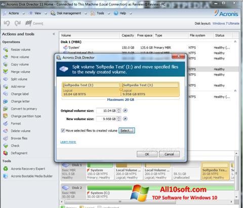 Screenshot Acronis Disk Director Suite Windows 10