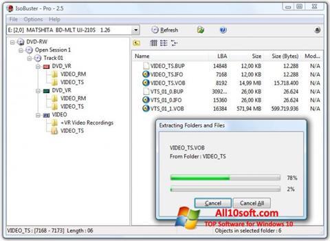 Screenshot IsoBuster Windows 10