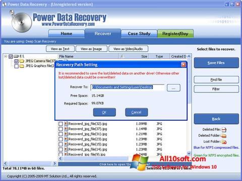 Screenshot Power Data Recovery Windows 10