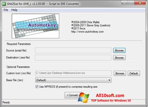 Screenshot AutoHotkey Windows 10