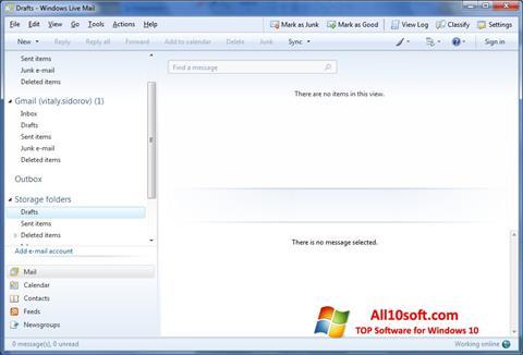 Screenshot Windows Live Mail Windows 10