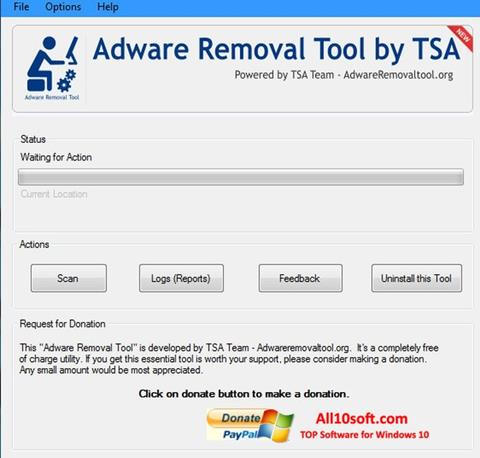 Screenshot Adware Removal Tool Windows 10