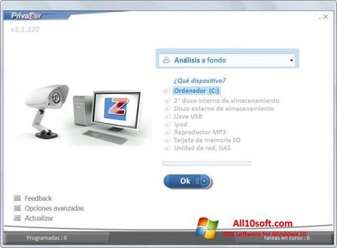 Screenshot PrivaZer Windows 10