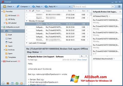 Screenshot FoxMail Windows 10