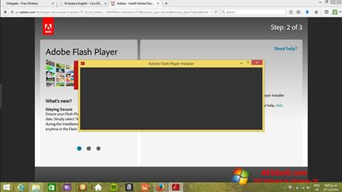 Screenshot Adobe Flash Player Windows 10