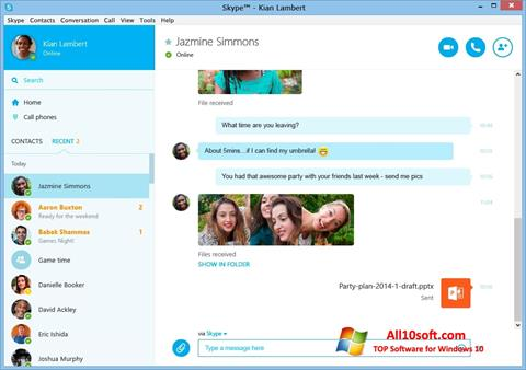 Screenshot Skype Windows 10