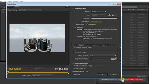 Screenshot Adobe Media Encoder Windows 10