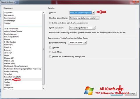 Screenshot Adobe Reader Windows 10