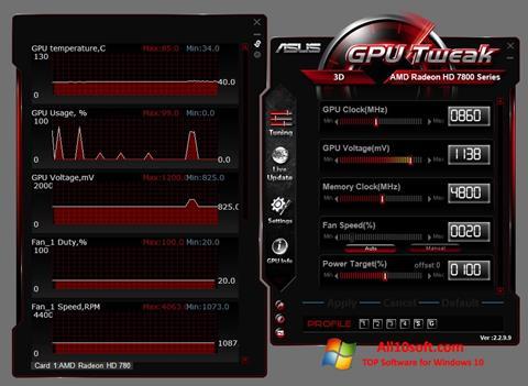 Screenshot ASUS GPU Tweak Windows 10