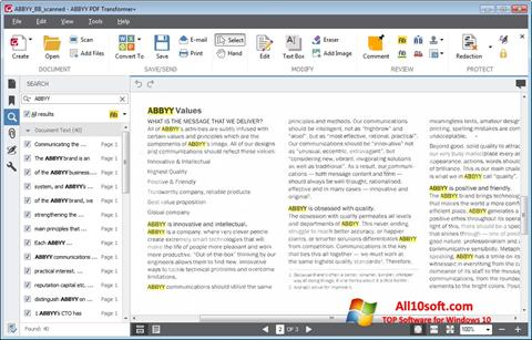 Screenshot ABBYY PDF Transformer Windows 10