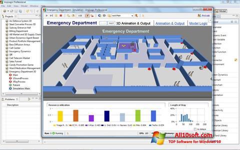 Screenshot AnyLogic Windows 10
