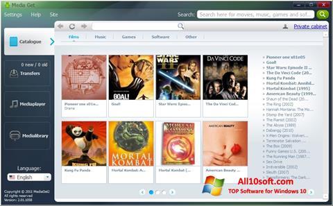 Screenshot MediaGet Windows 10