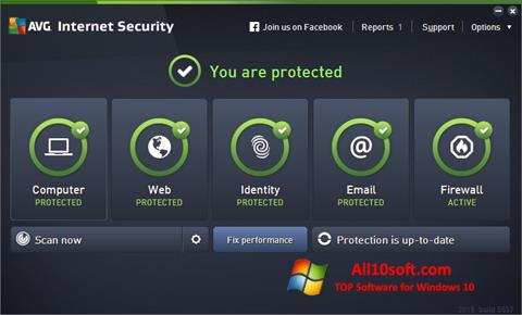 Screenshot AVG Internet Security Windows 10