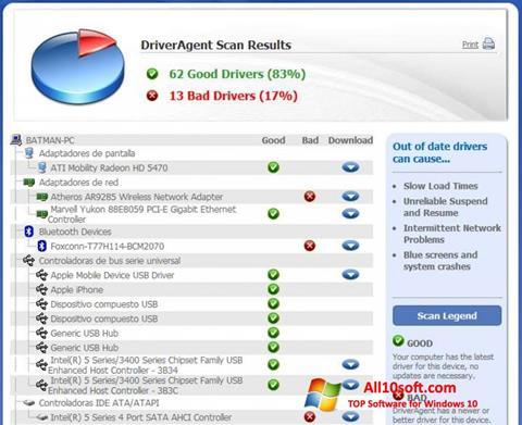 Screenshot DriverAgent Windows 10