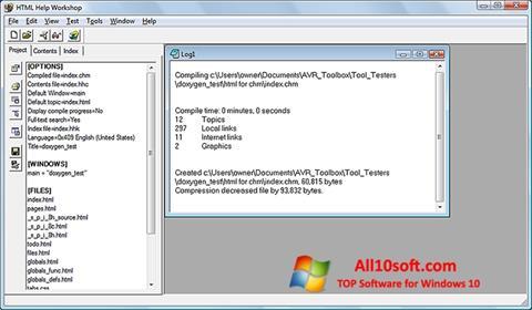 Screenshot HTML Help Workshop Windows 10