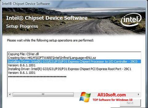 Screenshot Intel Chipset Device Software Windows 10