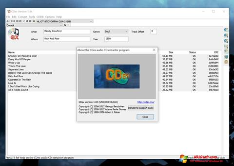 Screenshot CDex Windows 10