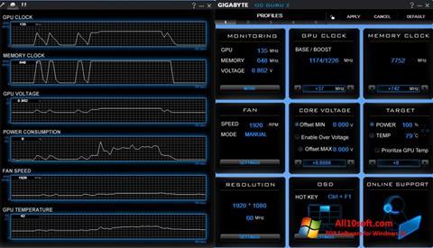 Screenshot GIGABYTE OC Guru Windows 10