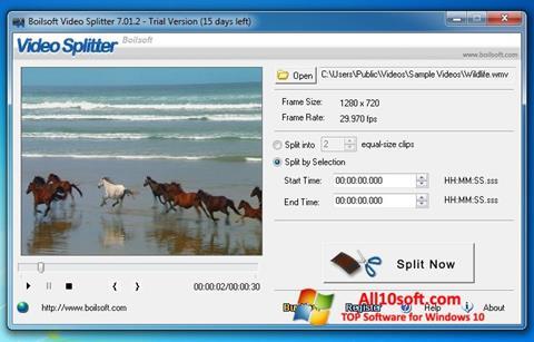 Screenshot Boilsoft Video Splitter Windows 10